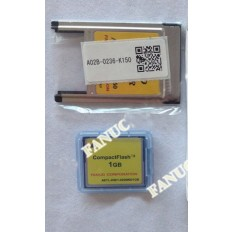 A87L-0001-0200#001GB   CF card and A02B-0236-K150 pc card adapter   FANUC compactFLASH CARD